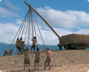 Construcción del monumento: colocación