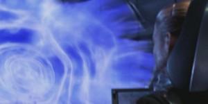 """Jodie Foster atravesando un agujero de gusando en la película """"Contact"""""""