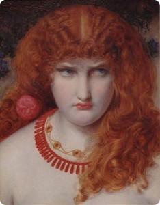 Helena de Troya. Obra de Anthony Frederick Augustus Sandys (wikimedia commons)