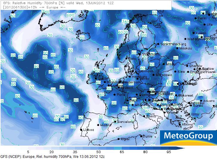 Qu hay detr s de un mapa del tiempo 2 700 hpa - Humedad relativa espana ...