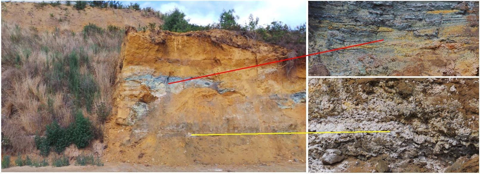 Touro: Una de las pocas minas donde se puede observar el interior de la balsa de lodos.
