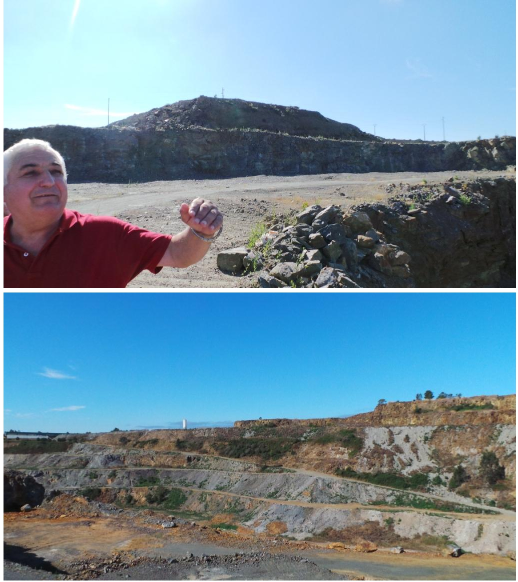 Felipe Macias nos explica un poco de mineralogía para empezar la visita a la mina.
