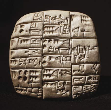Escritura cuneiforme.