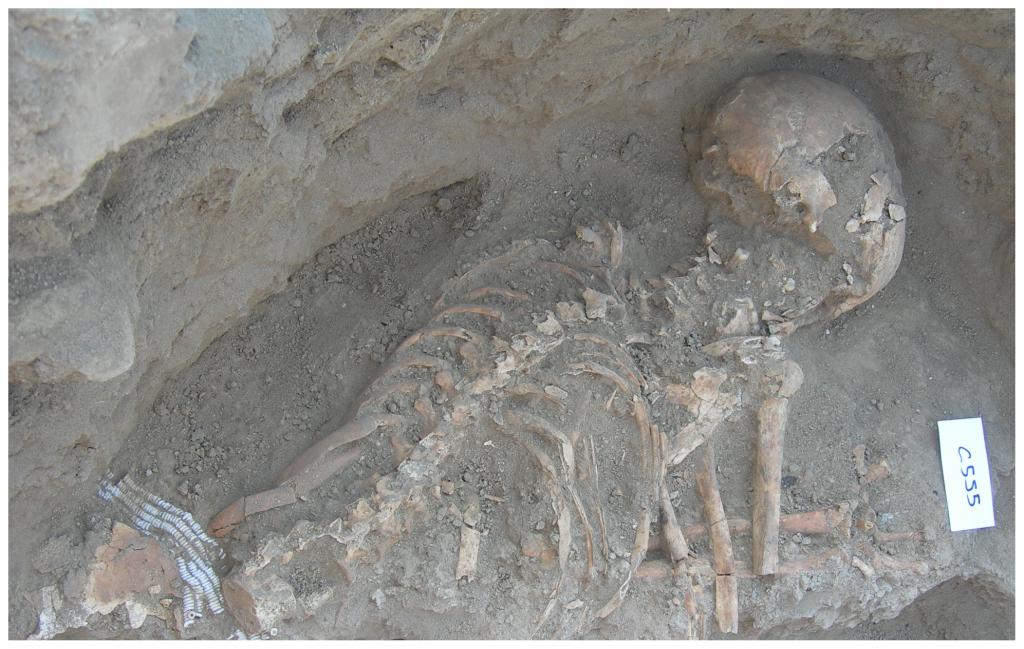 Imagen de la tumba donde se descubrió el punzón