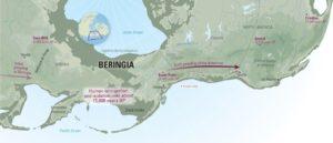Descripción geográfica y principales yacimientos de Beringia.