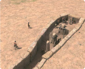 Construcción del monumento: relleno