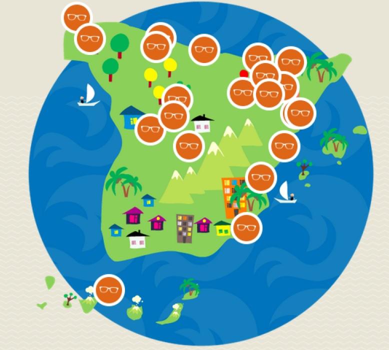 Mapa de ciuades PoS