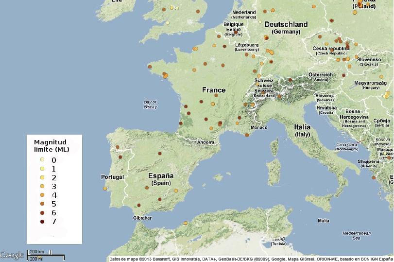 Mapa interactivo en google para ver las observaciones que se hacen dentro de las campañas GLOBE at Night.